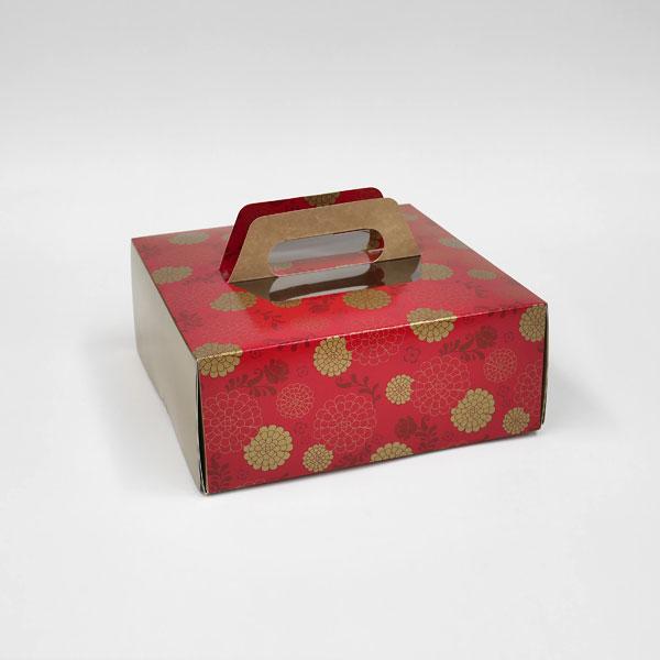 Tote box 10x10x4 red